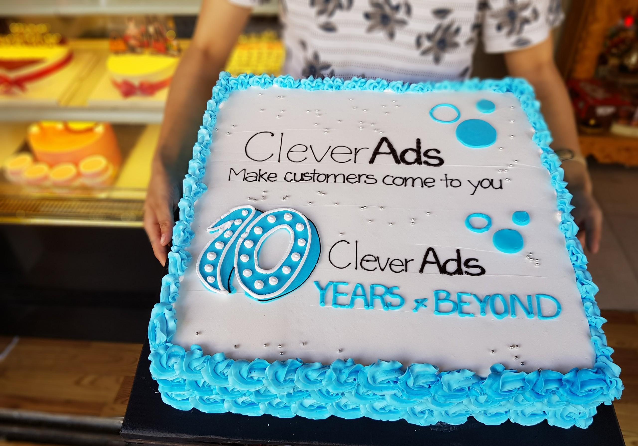 Mẫu bánh sinh nhật 10 năm CleverAds - Tiệm bánh MiaCake Đà Nẵng