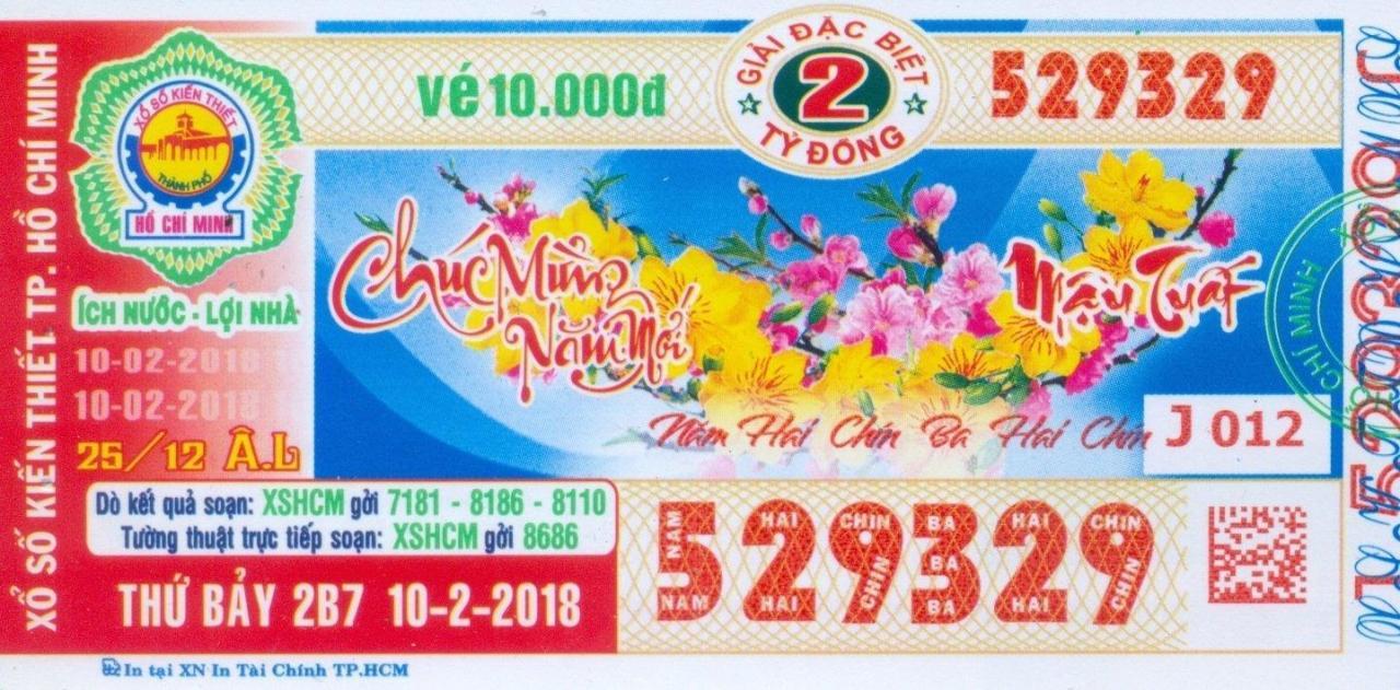 Vé xổ số thành phố Hồ Chí Minh