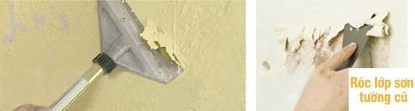 Nên dùng sơn loại kinh tế, loại khá không tạo lớp màng cứng có thể thoát hơi nước ra, không bị phá lớp màng sơn